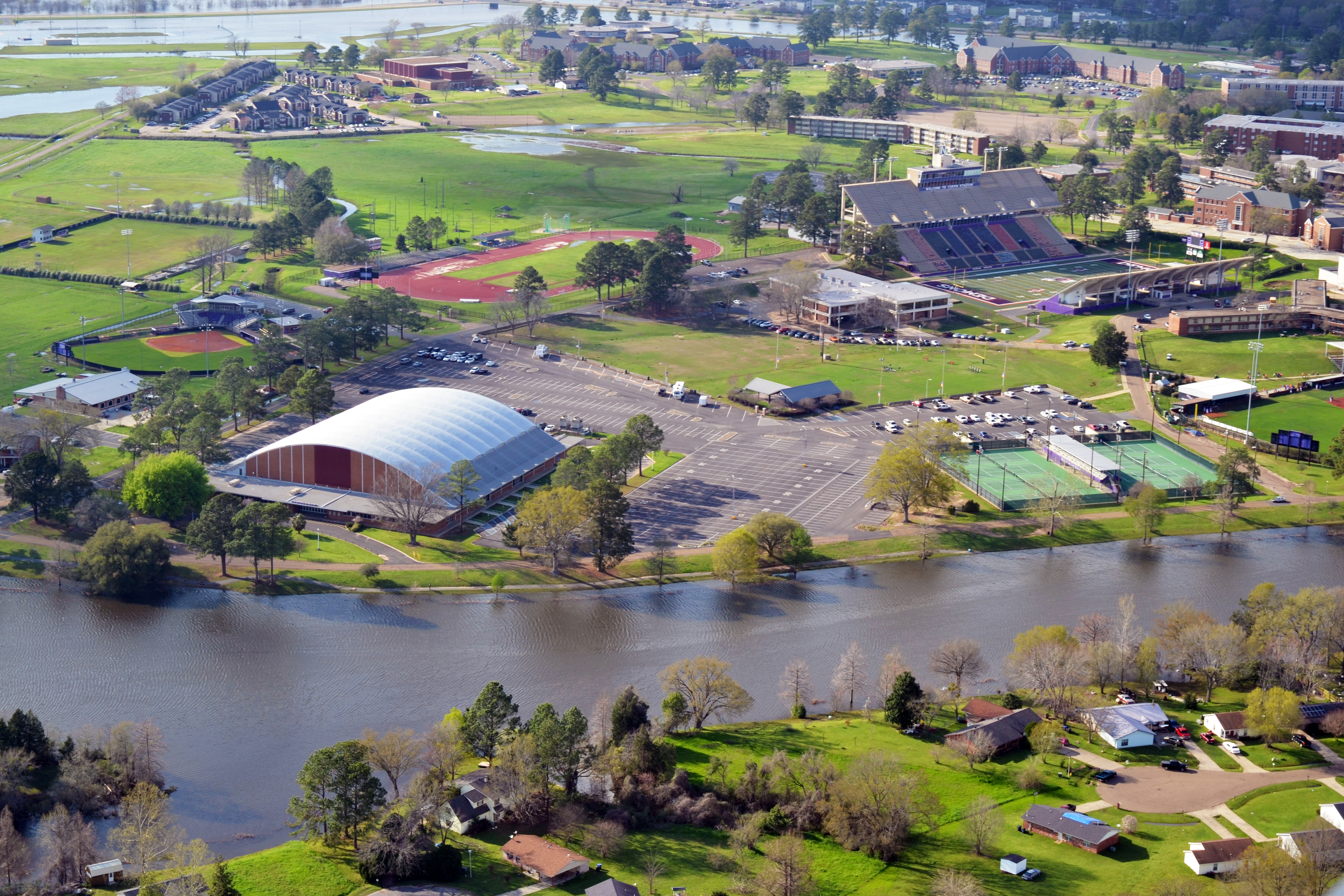 NSU aerial city of natchitoches