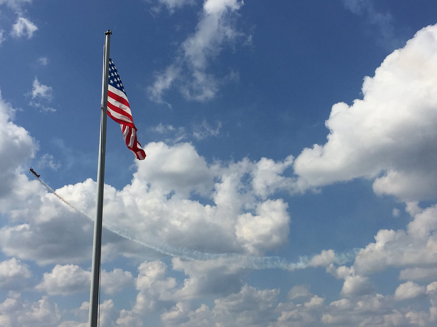 Airport American flag - city of natchitoches