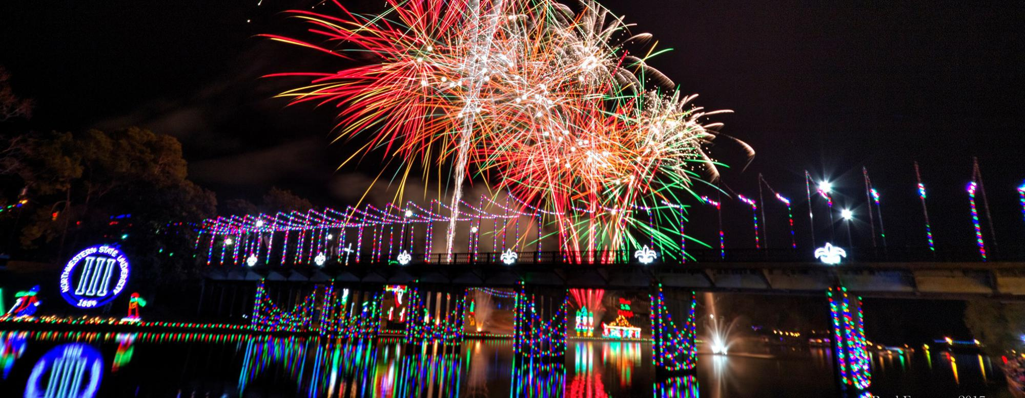 Natchitoches Christmas fireworks